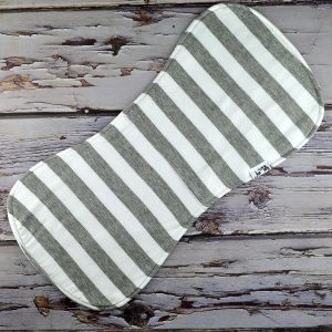 Grey Stripes Burp cloth