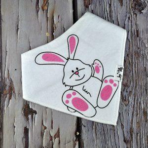 pink bunny bandana bib