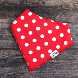 Red & white Bandana bib
