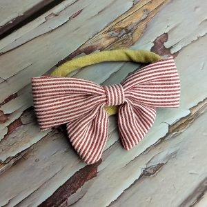 Red & White Christmas bow