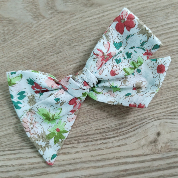 floral bow clips