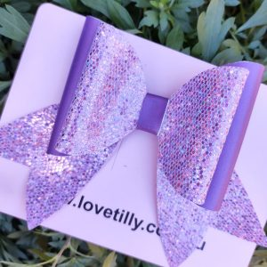 Purple sparkly Bow